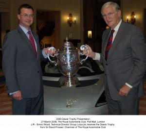 Dewar trophy presentation