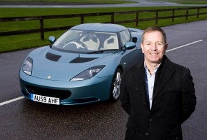Martin Brundle with the Lotus Evora