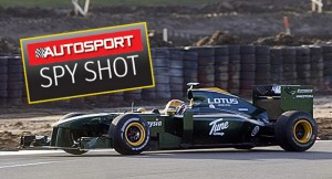 autocar Lotus F1 spy shot