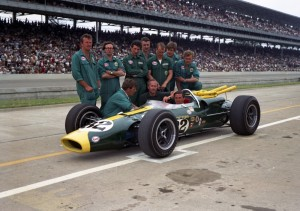 1965 Lotus Indy 500 Team. Photo credit IMS Photo