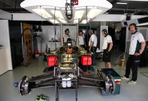 Lotus Racing Garage Malaysian Grand Prix 2010 Thursday