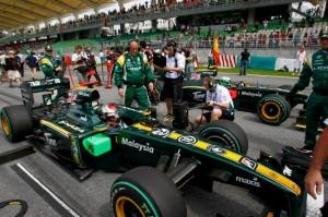 Race Grid Lotus Racing Malaysian Grand Prix 2010
