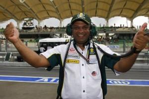 Tony Fernandez Lotus Racing Malaysian Grand Prix Qualifying