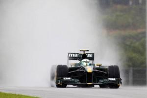 Lotus Racing T127 Malaysian Grand Prix Qualifying rain 2010