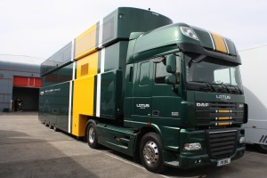 Lotus F1 Racing team hauler trailer