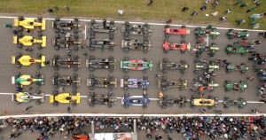 Classic Team Lotus Festival Grid F1 cars