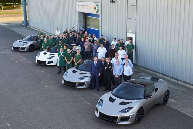 Evora 400 customer cars